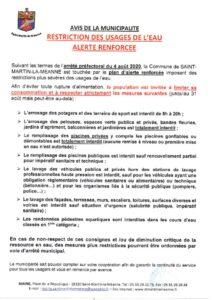 thumbnail of AVIS – restriction-d-eau – 4 aout2020